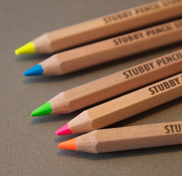 Stubby Pencil Studio Highlighter Pencils