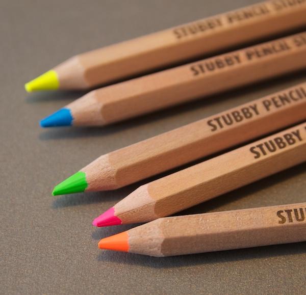 Stubby Pencil Studio Highlighter Pencils