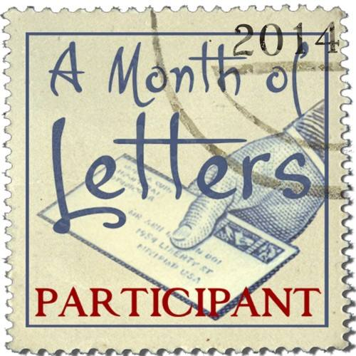 A Month of Letters Participant badge