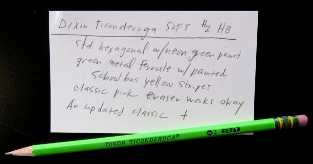 Dixon Ticonderoga Neon Green Pencil