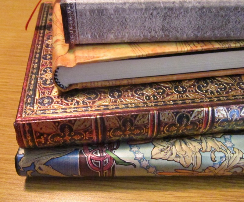 paperblanks stack of notebooks