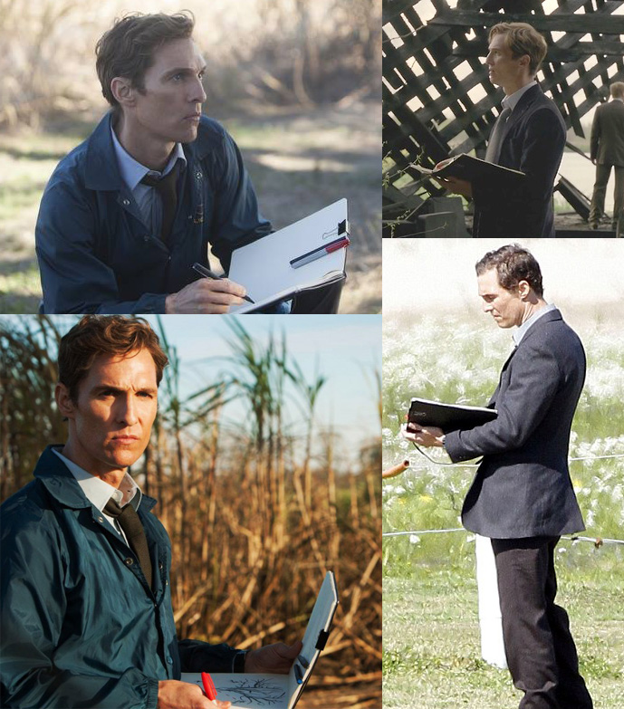 mcconaughey notebook in True Detective
