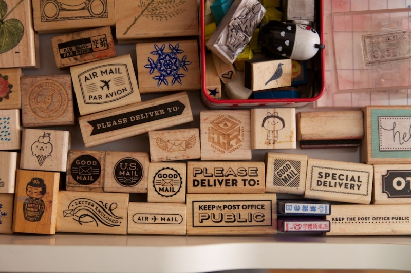 Organizing Rubber Stamps