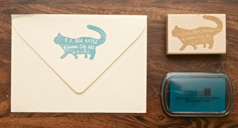 Paper Pastries Custom Return Address Rubber Stamp