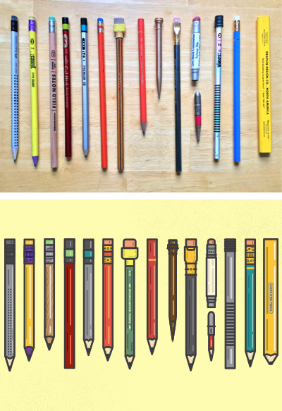 Life Imitates Art: Vector Pencil Art (via Woodclinched)