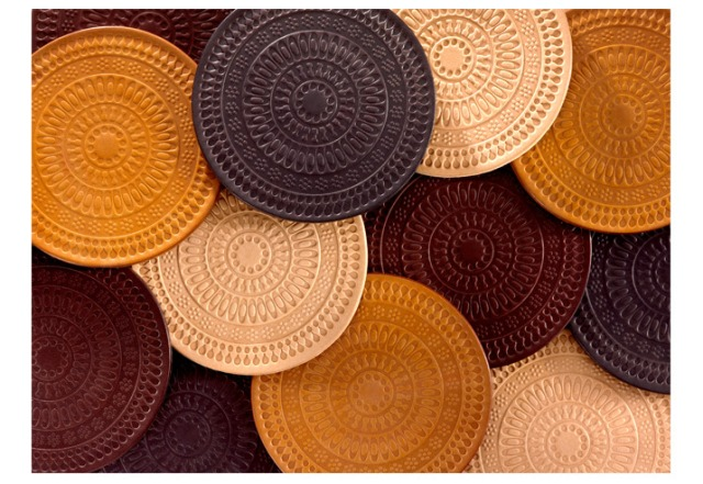 House Industries Leather Ornament Coasters
