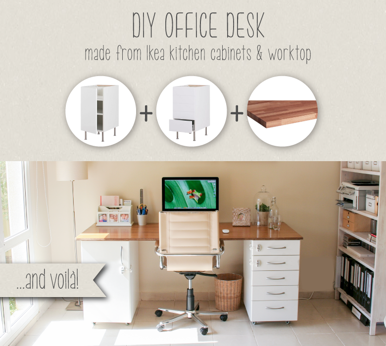 DIY Ikea Office Desk