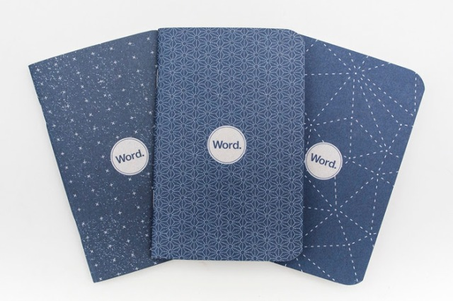 Word Notebooks in Indigo