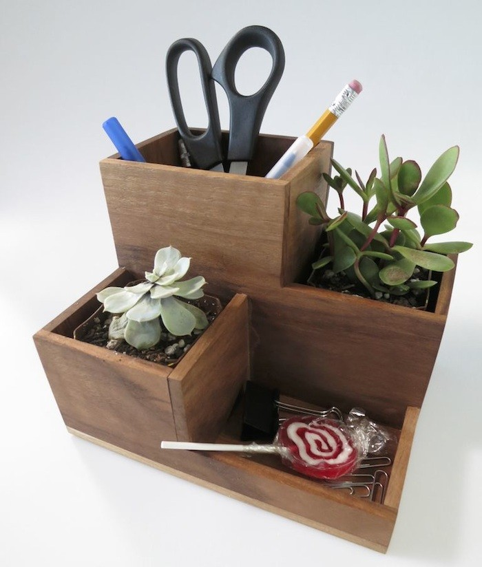 DIY desk planter