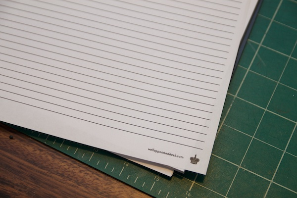turn a blank notebook into a lined notebook the well appointed desk
