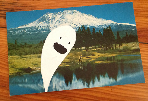 Parcel Ghost postcard