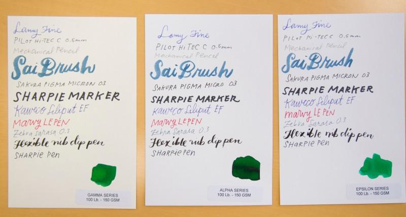 Sillman & Birn sketchbook paper sampler