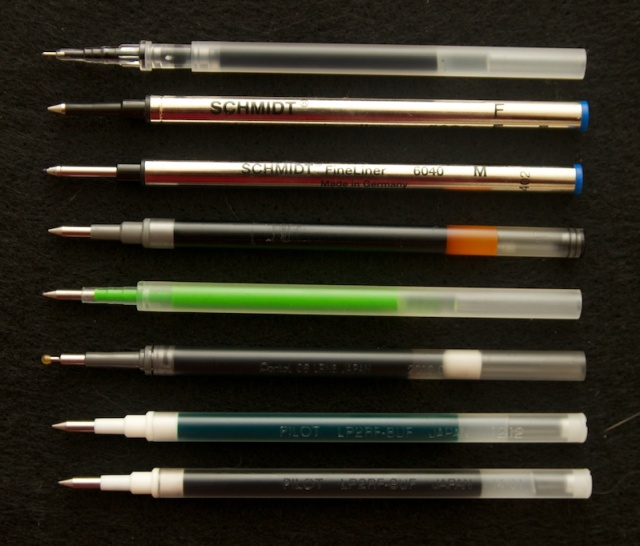 European International Rollerball / Pilot G-2 style refills
