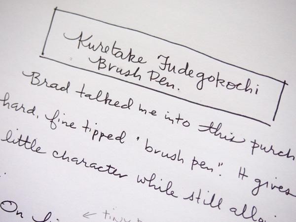 Kuretake Fudegokochi Fine Brush Pen