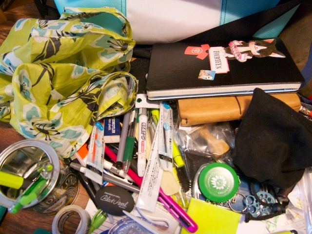 The crap that went into the Timbuk2 Chicago Edition Medium Messenger Bag
