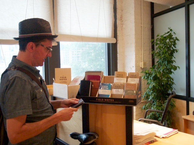 Bob peruses the Field Notes selection