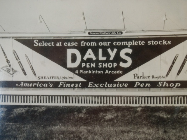 Daly's Pen Shop Billboard