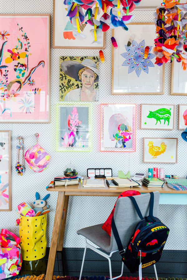 Bright art and hangings