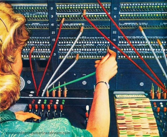 Vintage telephone operator
